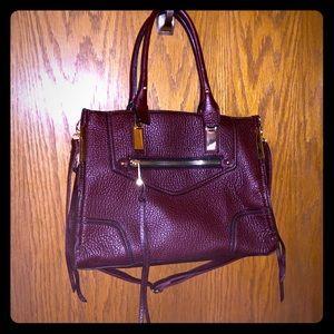 ALDO burgundy shoulder bag w/ wallet